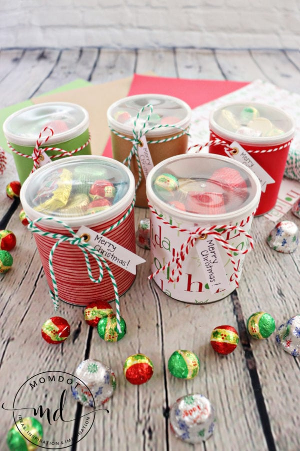 Christmas Can Craft with Gorilla Adhesive Spray - Plus A