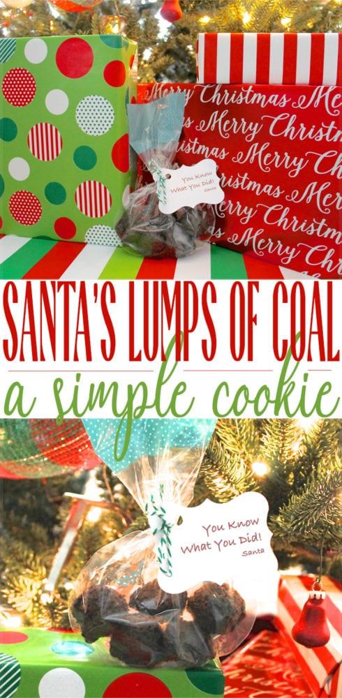 Santa S Lumps Of Coal A Simple Cookie Recipe Momdot